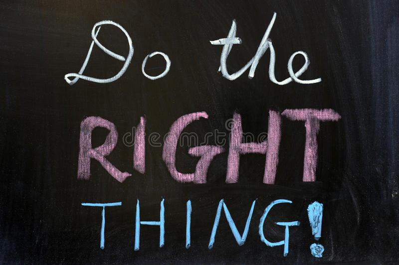 Do the right thing stock photos