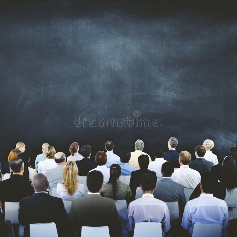 Do seminário da reunião executivos do conceito incorporado da conferência fotos de stock