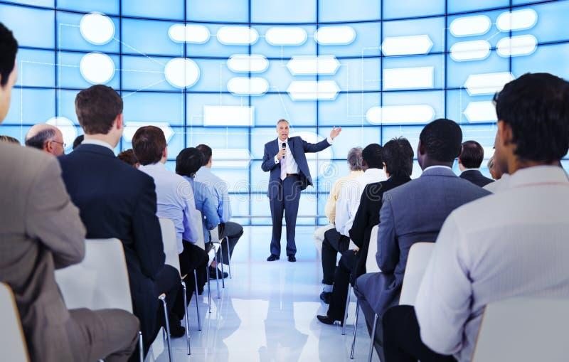 Do seminário executivos do conceito incorporado da conferência foto de stock royalty free