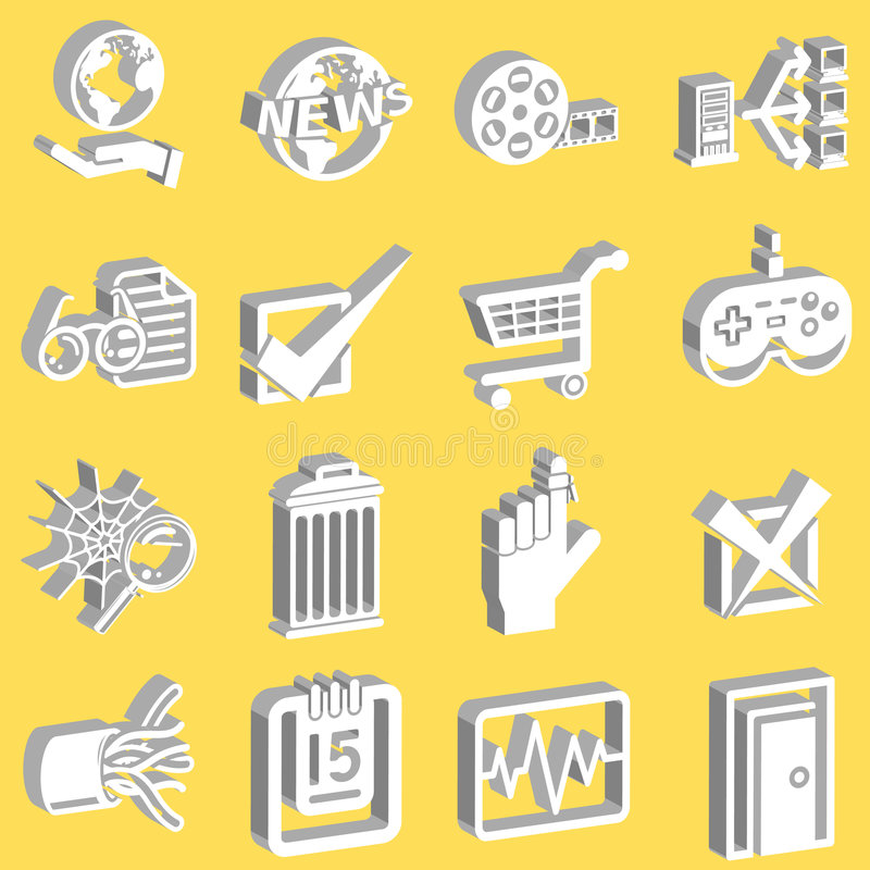 do serii ikon sieci ilustracja wektor