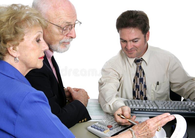do serii seniora finansów zdjęcia stock