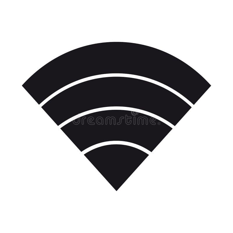 Do sinal sem fio do Internet de WiFi ícone liso Wlan para Apps ou Web site ilustração do vetor