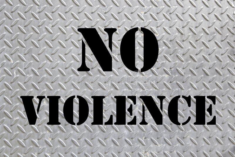 Do sinal violência não ilustração do vetor