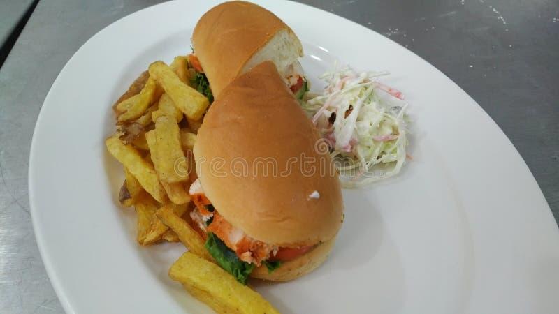 tandori burger eat well leave well stock photos