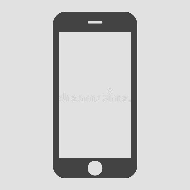 Do telefone celular cl?ssico do smartphone do estilo do cinza opini?o dianteira Vetor eps10 do ?cone do telefone celular de Smart ilustração stock