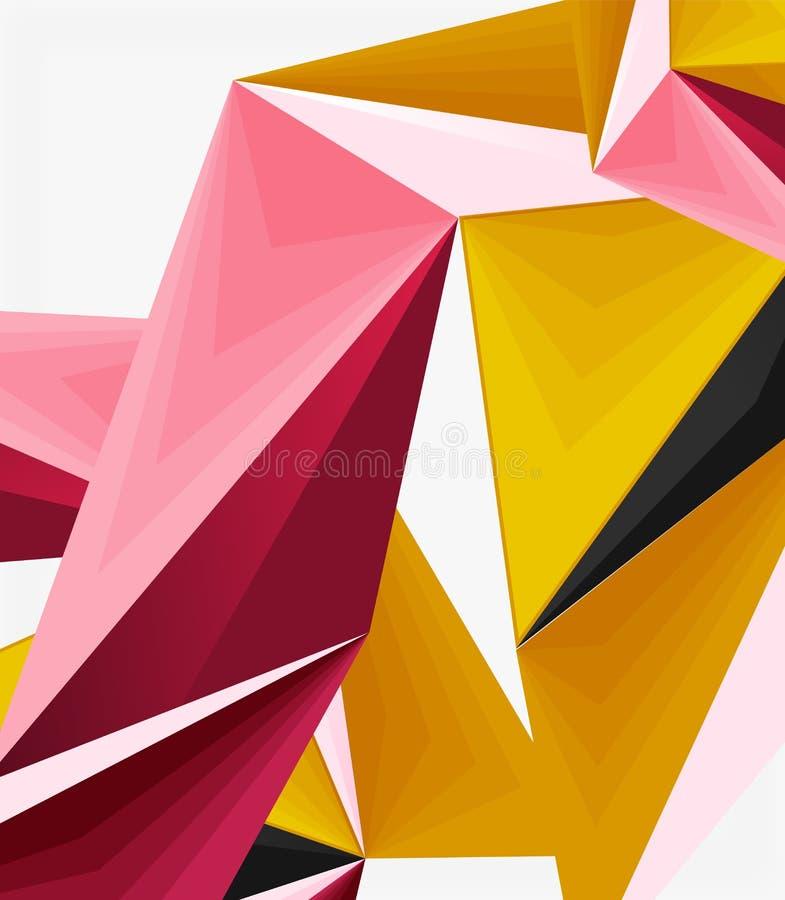 do triângulo 3d vetor geométrico abstrato poli moderno baixo ilustração do vetor