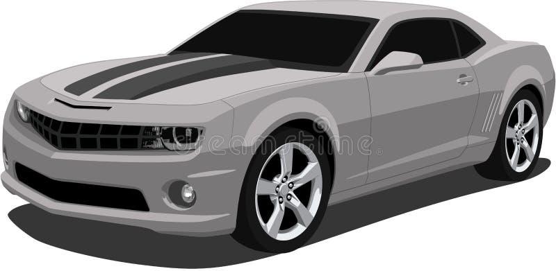 Do vetor de Camaro carro 2009 de esportes ilustração stock