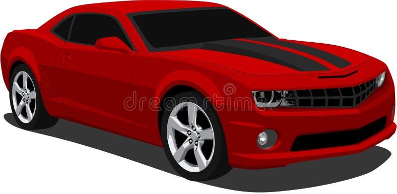 Do vetor de Camaro carro 2009 de esportes ilustração royalty free