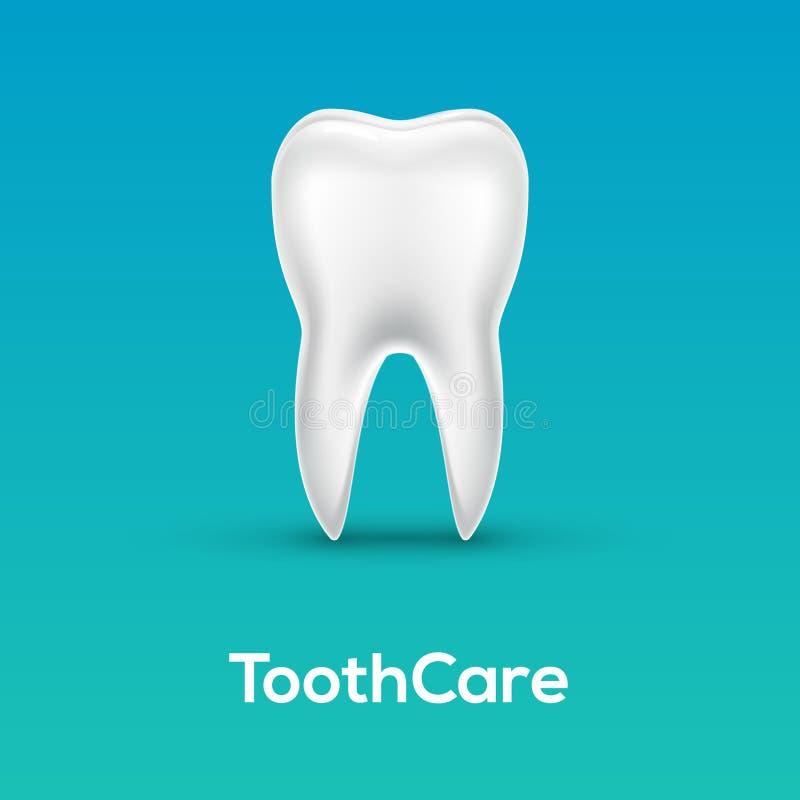 Do vetor dental do ícone do cuidado do dente fundo saudável do dentista Ilustração médica branca brilhante da odontologia 3d do d ilustração do vetor