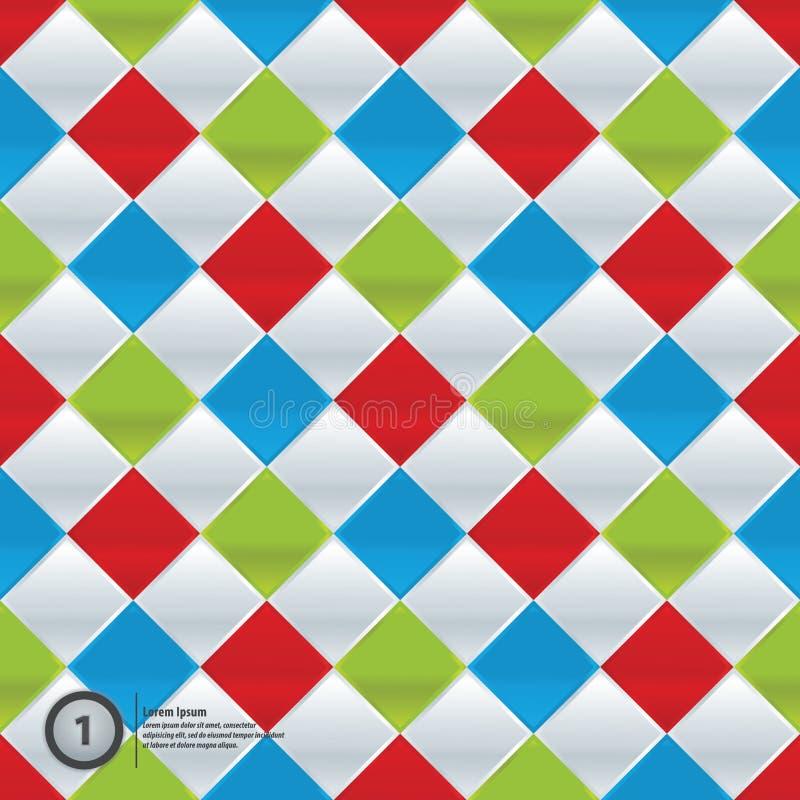 Do vetor mosaico colorida. Teste padrão simples em quatro cores na moda. ilustração stock