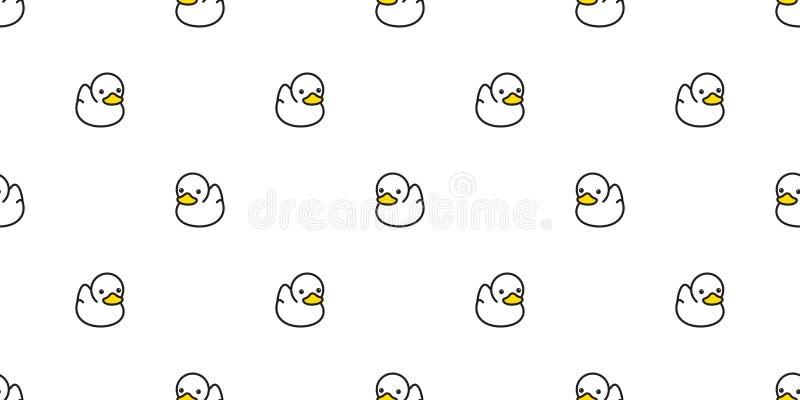 Do vetor sem emenda do teste padrão do pato wra isolado ducky de borracha do presente do fundo da telha do papel de parede da rep ilustração royalty free