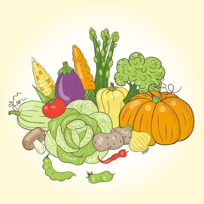 Do vetor vegetal da vida ainda ilustração do vetor