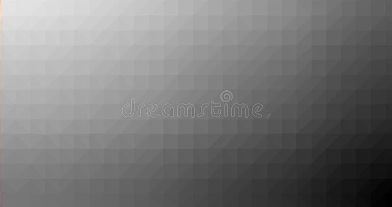 Do vidro poligonal geométrico triangular poli do borrão do quadrado de Grey Gradient Low fundo abstrato do vetor ilustração royalty free