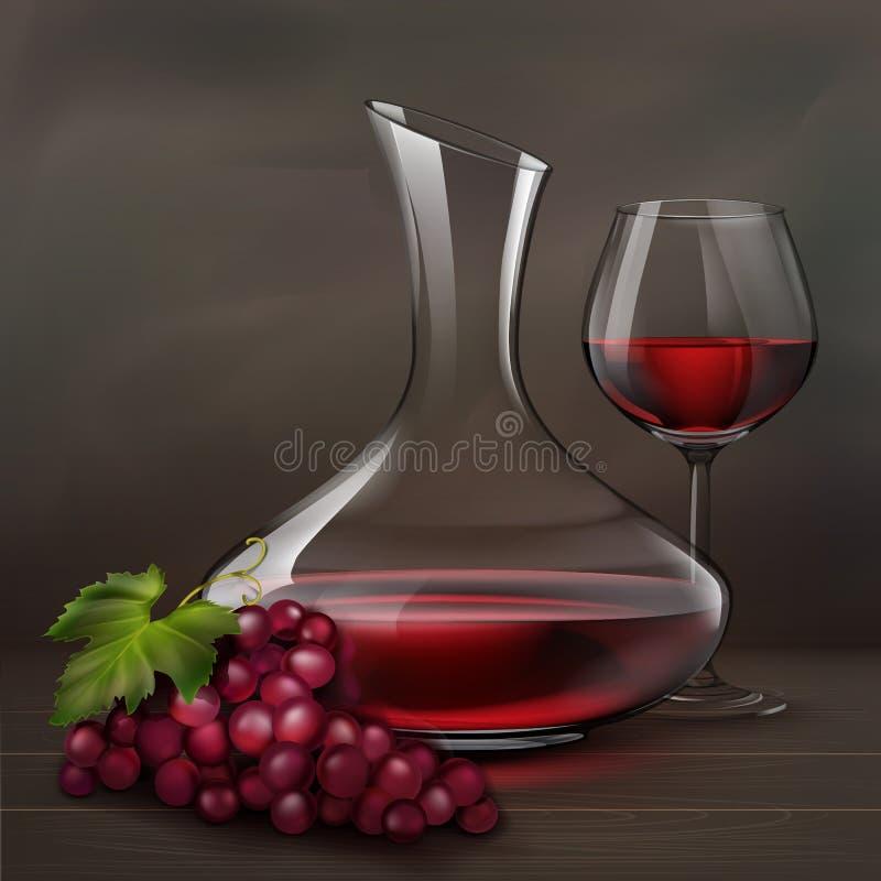 Do vinho vida ainda ilustração stock