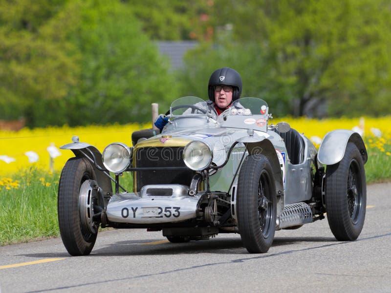 Do vintage carro de corridas Alvis Grenfell da guerra pre de 1932 imagens de stock royalty free