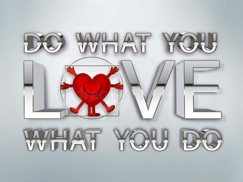 Do what you love vector illustration