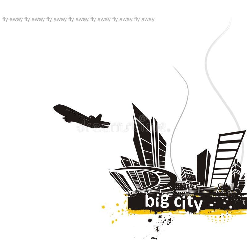 do wielkiego miasta ilustracja wektor