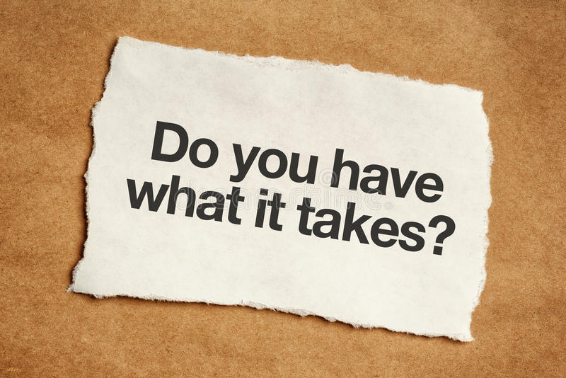 Do you have what it takes question royalty free stock photos