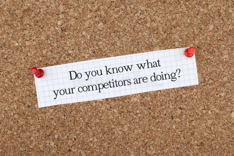 Do You Know What Your Competitors Are Doing? / Business Phrase. Knowledge about your competitors is important royalty free stock photos