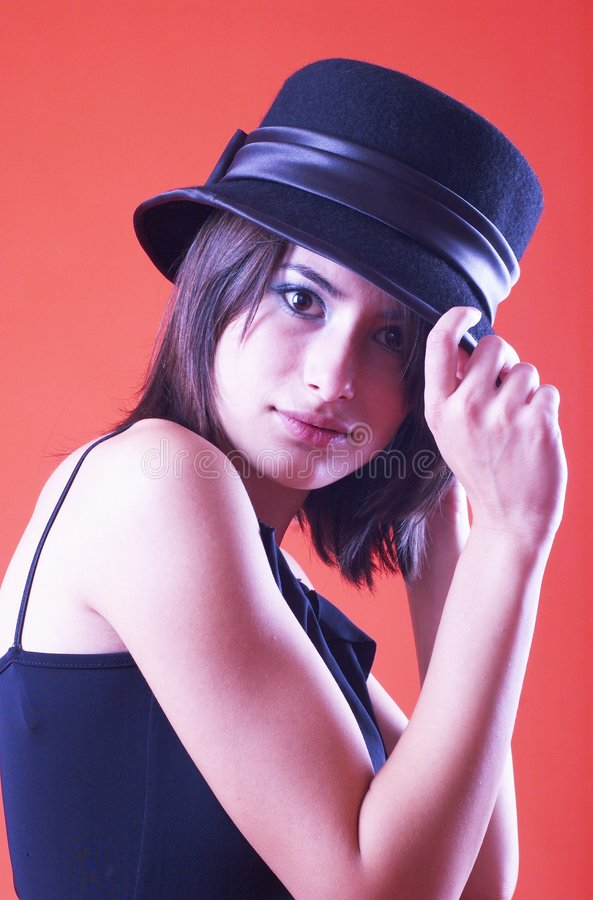 Download Do You Like My Hat? - 2 stock image. Image of fashionably - 1586703