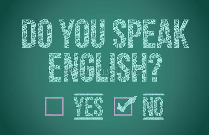 Do you speak english stock illustration