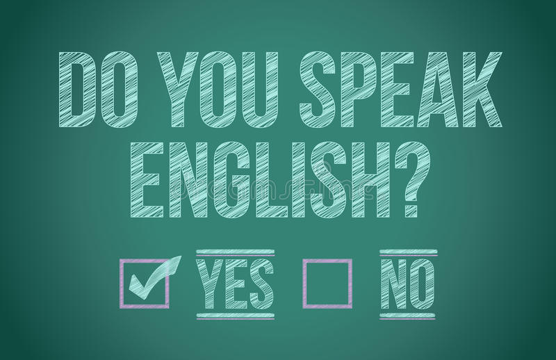 Download Do you speak english stock illustration. Image of label - 28721403
