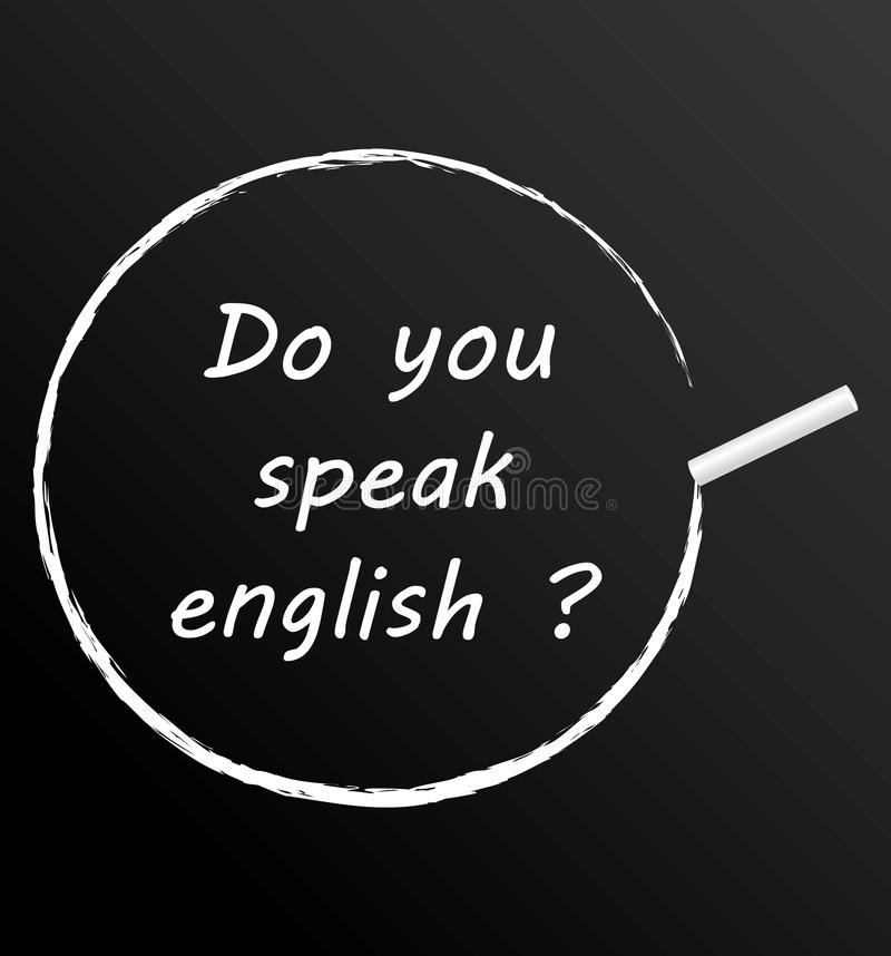 Download Do you speak english ? stock vector. Image of elearning - 33108162