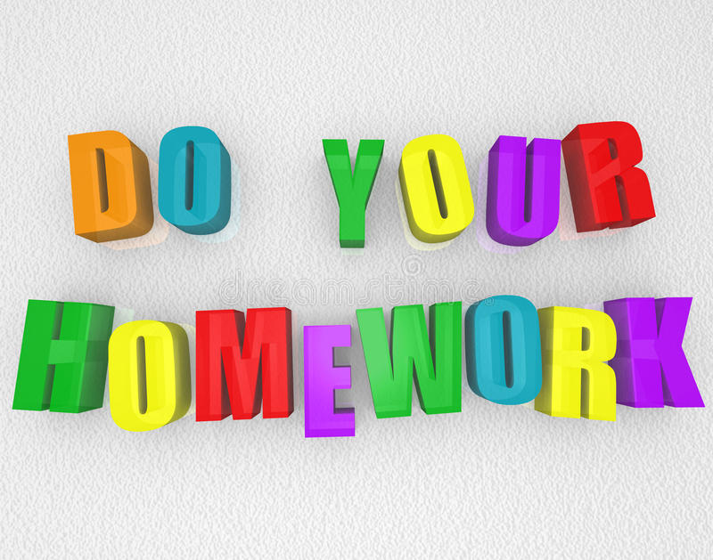 Do Your Homework - Colorful Magnets stock illustration