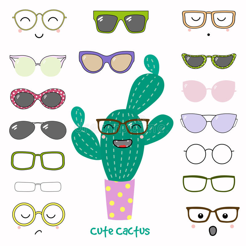 Do it yourself cactus in glasses stock vector illustration of download do it yourself cactus in glasses stock vector illustration of character build solutioingenieria Images