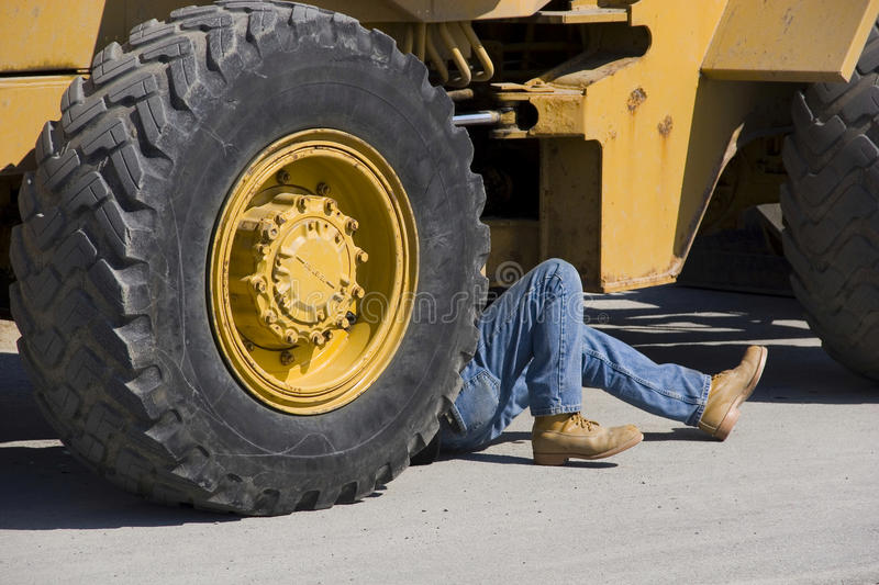 Do it yourself diesel mechanic royalty free stock image