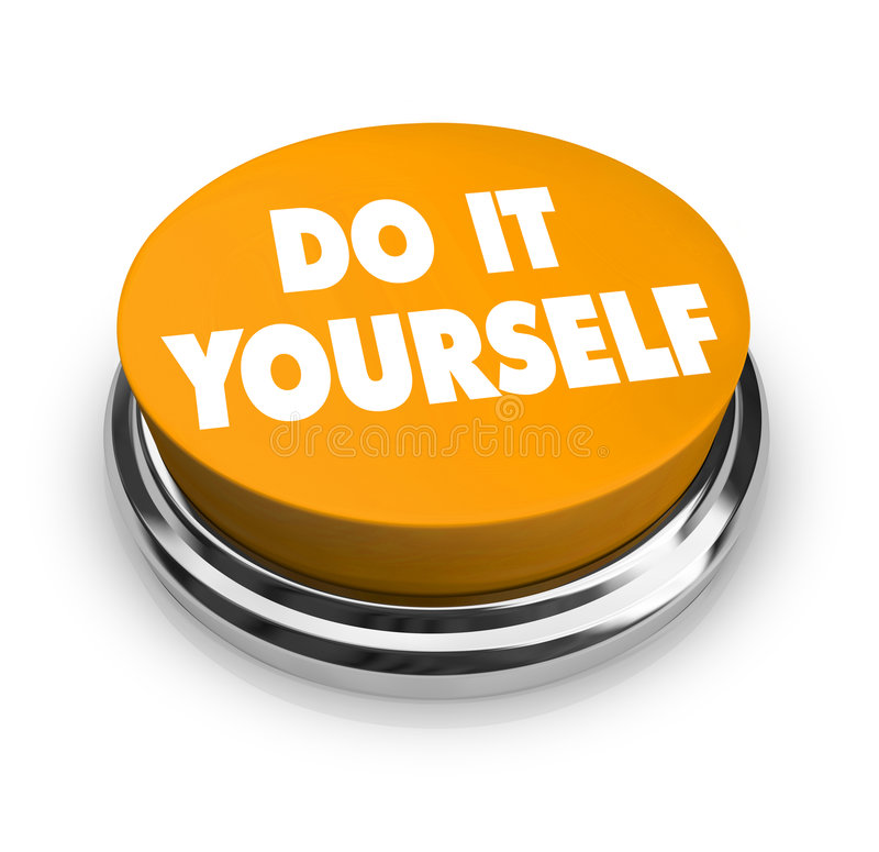 Do it Yourself - Orange Button. A orange button with the words Do It Yourself on it vector illustration