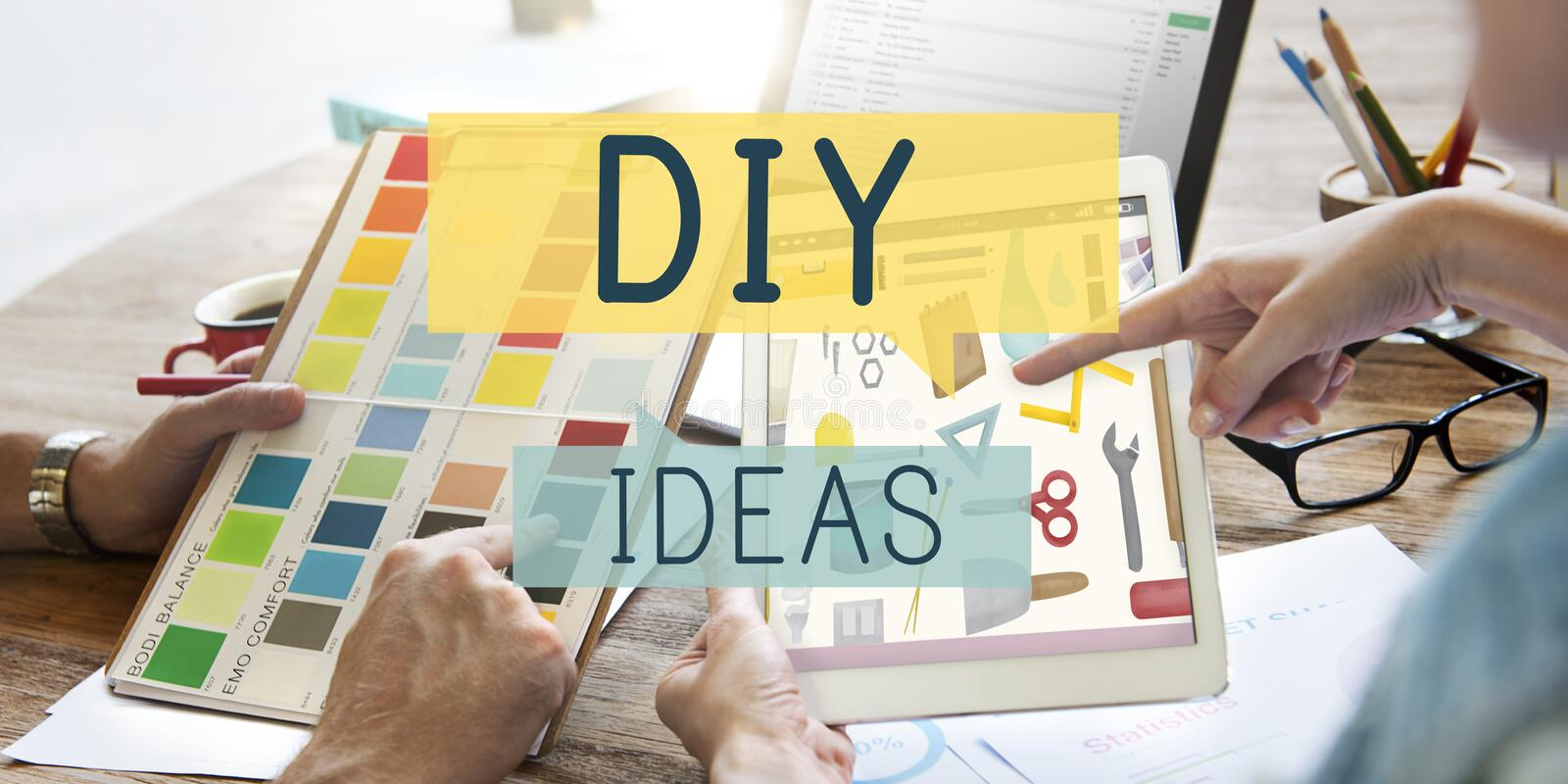 Do it yourself project graphics concept stock illustration do it yourself project graphics concept solutioingenieria Choice Image