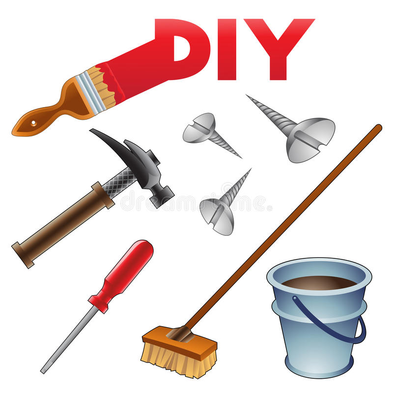 Download Do it Youself Icons stock vector. Image of broom, home - 20626569