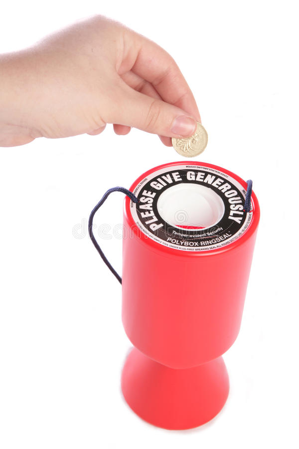 Doação à caridade foto de stock