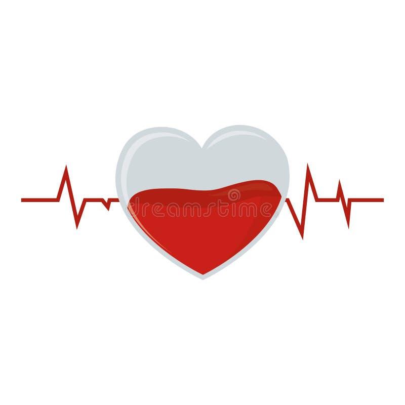 doação de sangue de cristal do pulso do coração ilustração stock