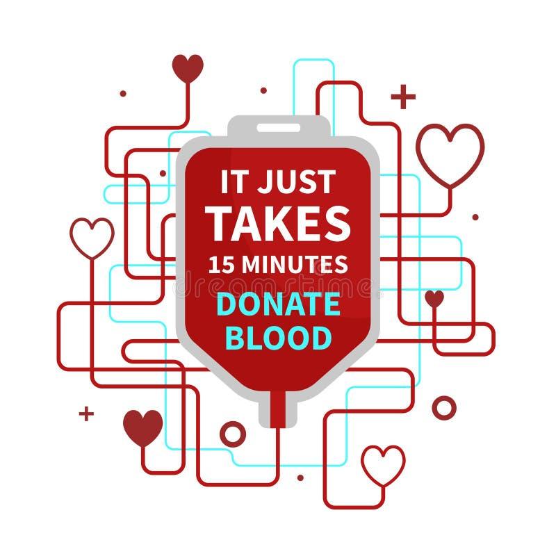 Doação de sangue infographic ilustração stock