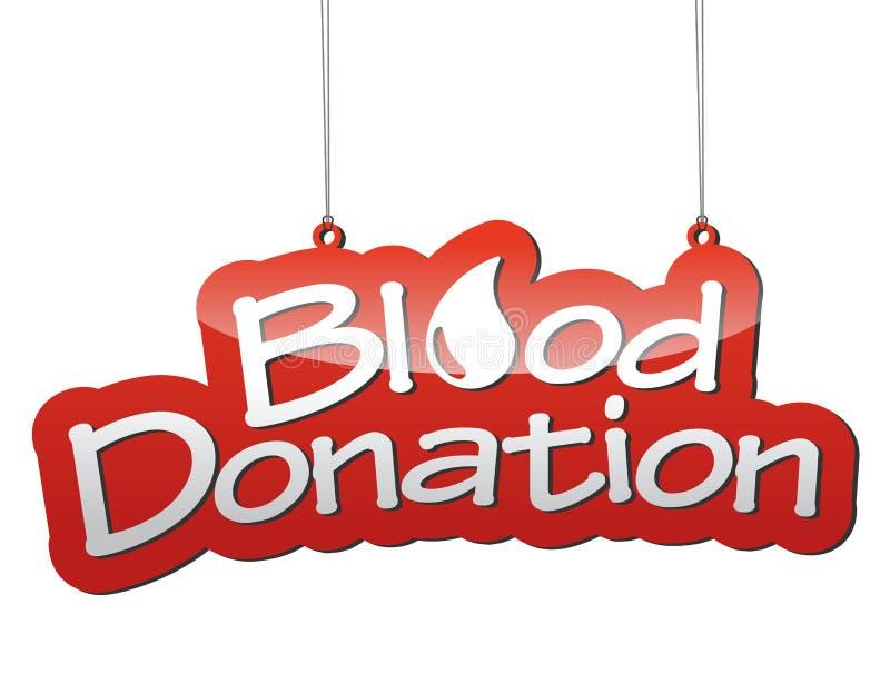 Doação de sangue vermelha do fundo ilustração stock