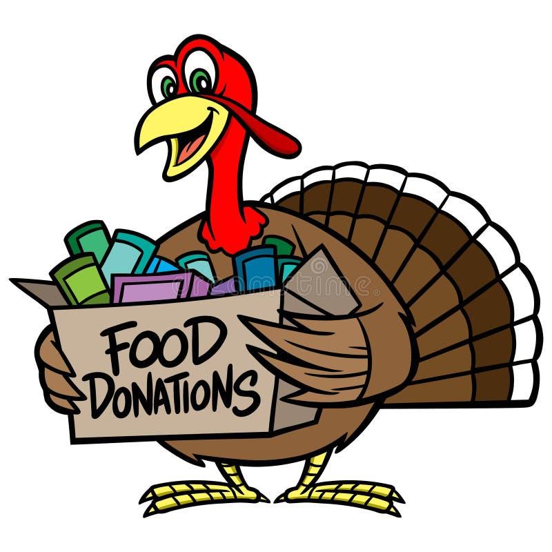 Doação do alimento ilustração stock
