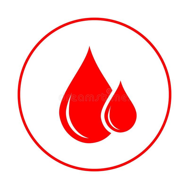 Doador de sangue Sangue das gotas ilustração royalty free