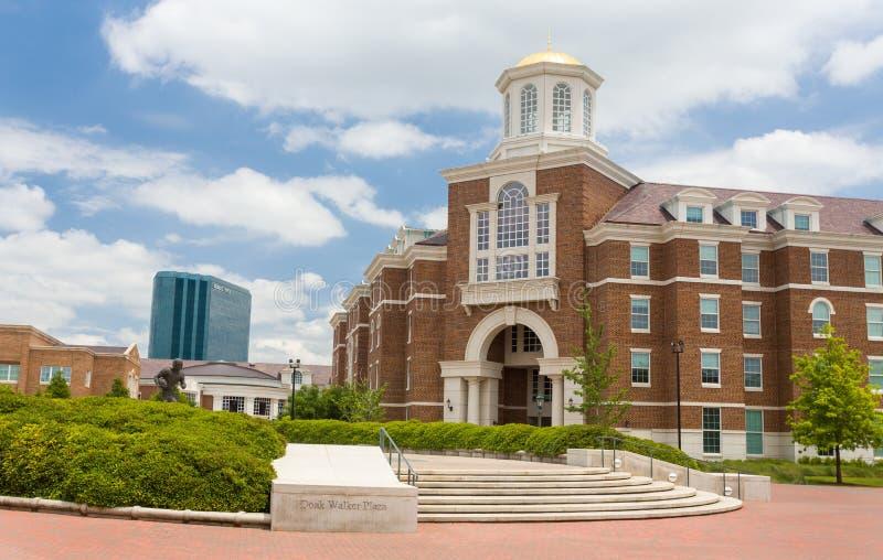 Doak Walker Plaza en Armstrong-het Lagerhuis bij de Zuidelijke Methodist V.N. stock foto