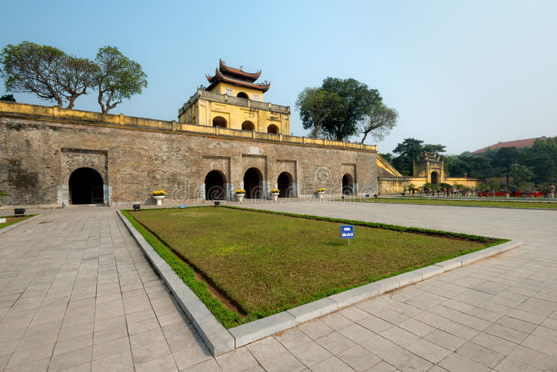 Doan Mon Gate, Imperial Citadel of Thang Long in Hanoi, Vietnam. This image shows Doan Mon Gate, Imperial Citadel of Thang Long in Hanoi, Vietnam stock photos