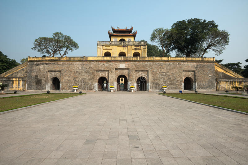 Doan Mon Gate, Imperial Citadel of Thang Long in Hanoi, Vietnam. This image shows Doan Mon Gate, Imperial Citadel of Thang Long in Hanoi, Vietnam royalty free stock images