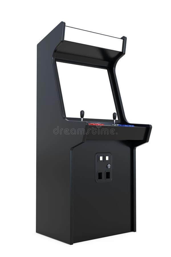 Dobbel Arcade Machine med den tomma skärmen för din design 3d sliter vektor illustrationer