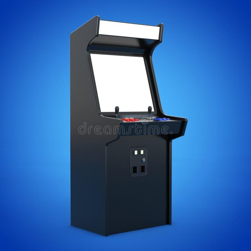 Dobbel Arcade Machine med den tomma skärmen för din design 3d sliter royaltyfri illustrationer