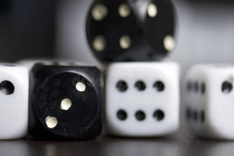 Dobbel Het spelen kubussen royalty-vrije stock foto