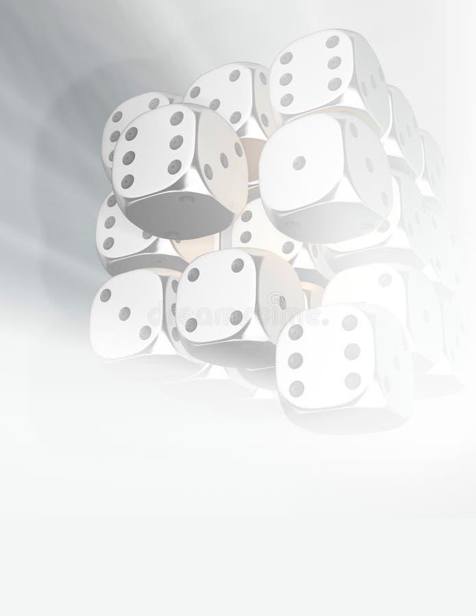 Dobbelt 7 royalty-vrije illustratie