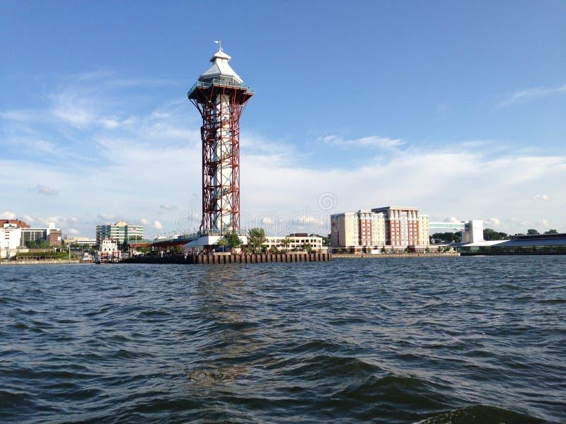 Dobbins приземляясь, двухвековая башня, PA Erie стоковое фото rf