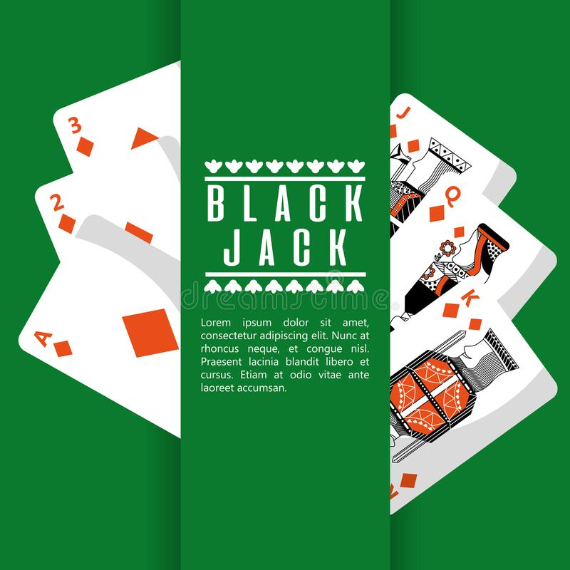 Dobbleri för däck för kasino för kort för svart stålar för poker vektor illustrationer