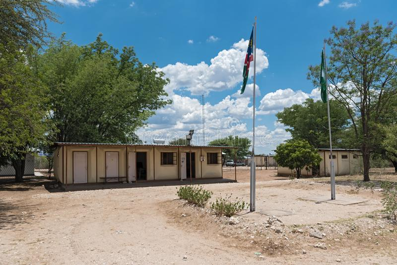 The dobe border post small border crossing between botswana and namibia royalty free stock image