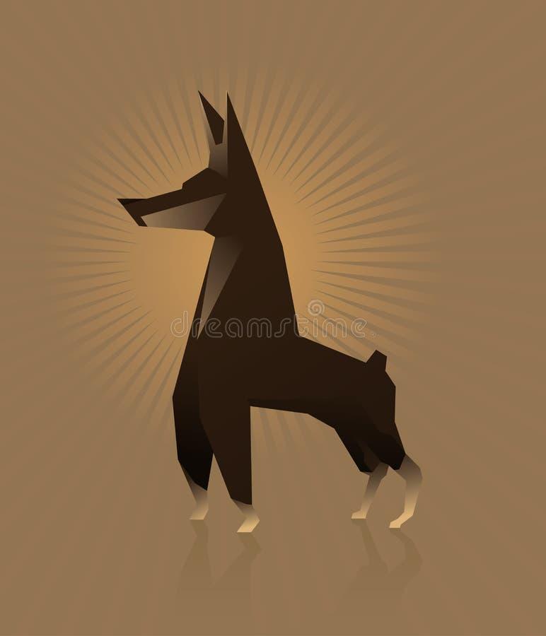 Doberman del cane royalty illustrazione gratis